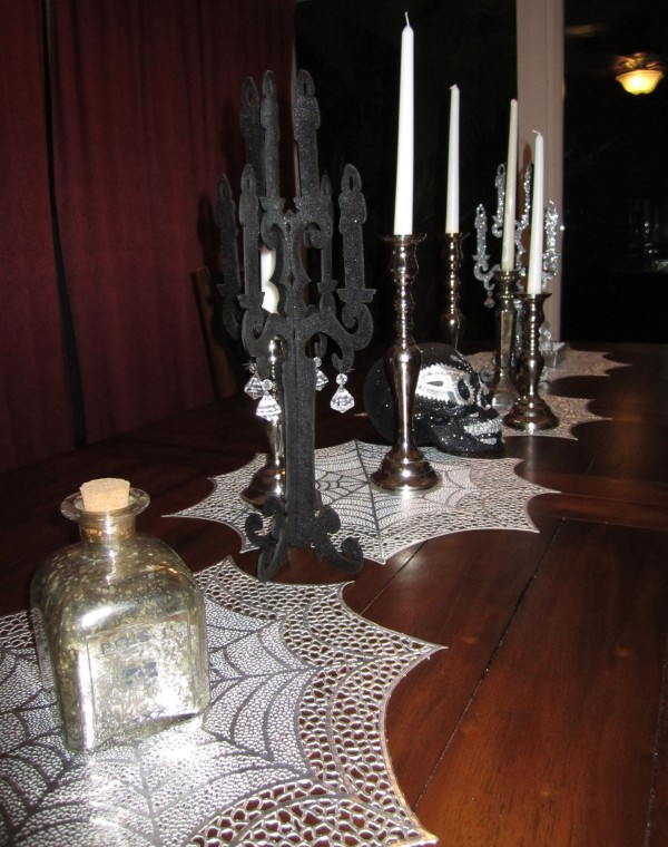Black And Silver Halloween Table Decorations Domestic