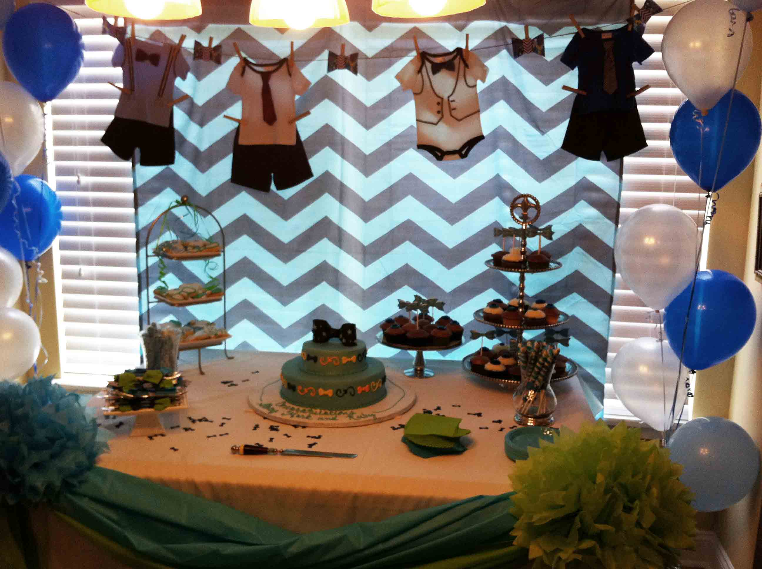 Attractive Bow Tie Cupcakes And Cookies » Baby Shower Bow Tie Table