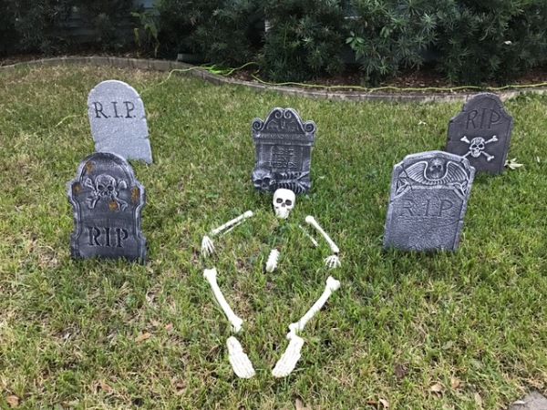 Halloween Bones and tombstones